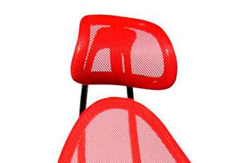 Die Nackenstütze eines Bürostuhls