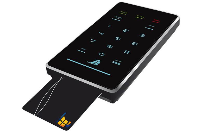 Festplatte mit PIN-Code und Karte geschützt