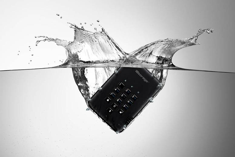 Festplatte bietet Schutz vor Wasser