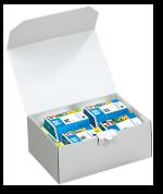Wellpapp-Karton mit Klappdeckel