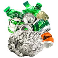 Leichtverpackungen - Alufolie, Dosen, Plastikflaschen