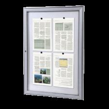 Schaukasten mit magnetischer Innenrückwand hochkant für DIN A2