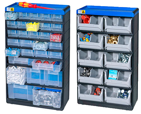mehrere Farben hünersdorff MultiStore Kleinteilemagazin Sortimentskasten
