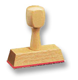 Holzstempel