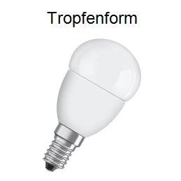 Leuchtmittel-Tropfenform