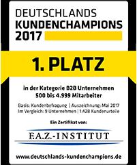 Logo Deutschlands Kundenchampions 2017
