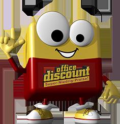 office discount Maskottchen Odi hat einen Einfall