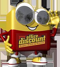 office discount Maskottchen Odi traegt eine Sonnenbrille