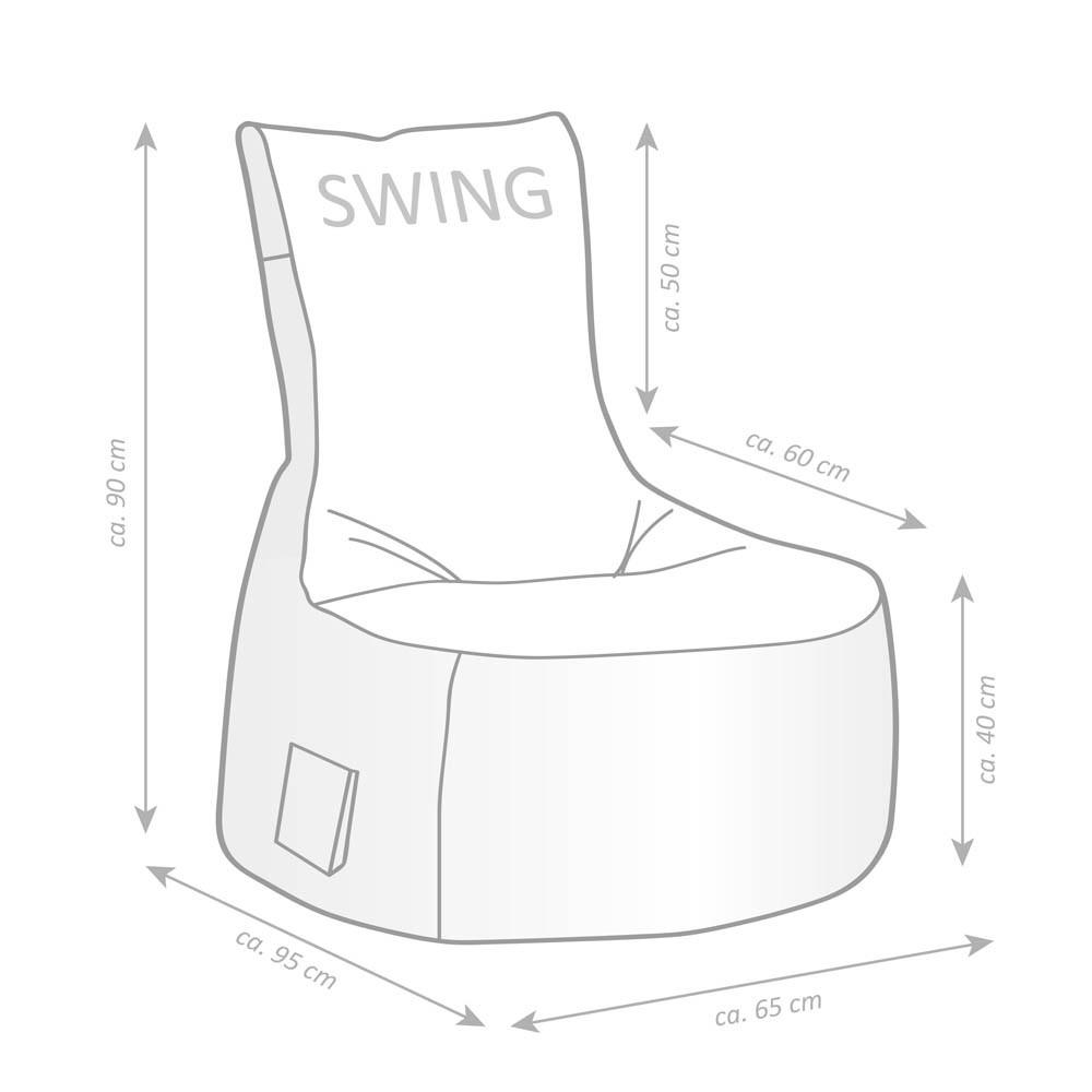 Sitting Point Swing Cuba Sitzsack Braun Günstig Online Kaufen