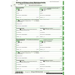 25 Rnk Verlag Formulare 705 Mahnbescheid Für Maschinelle Bearbeitung