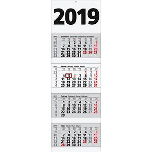 4 Monats Wandkalender 2019 Gunstig Online Kaufen Office Discount