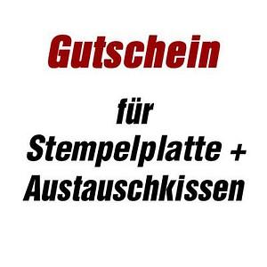 Trodat Gutschein Für Stempelplatte Für Trodat 4927 Mit Logo Günstig
