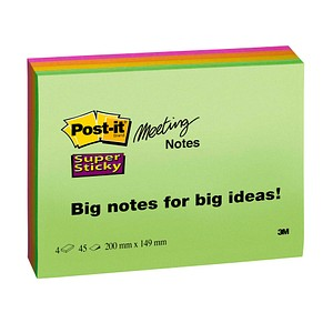 Haftnotizen Super Sticky Meeting Notes von Post-it®