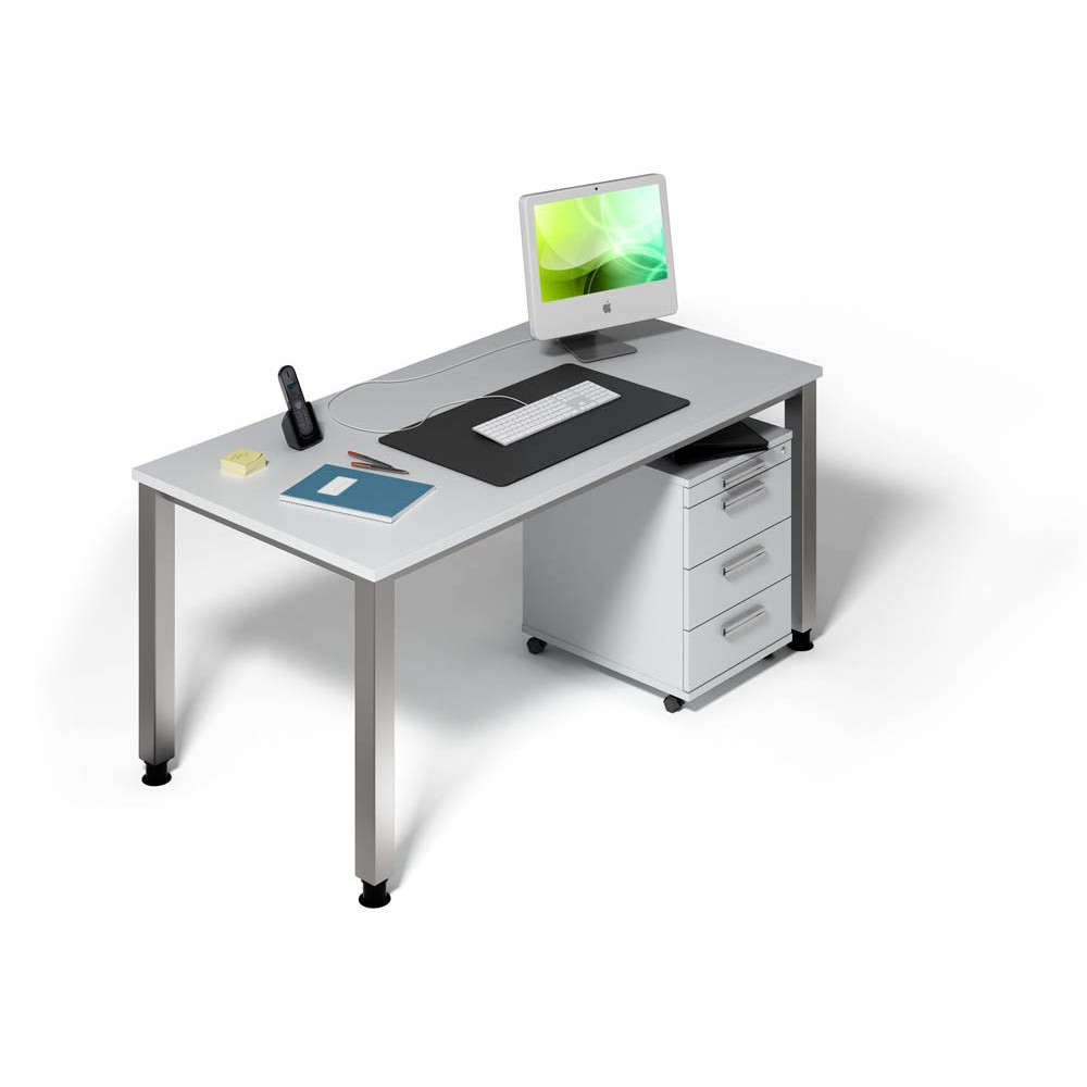 Hammerbacher Büromöbel Set Akandia Grau Rechteckig Günstig Online
