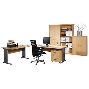 7ae0f605f0b1da WELLEMÖBEL Büromöbel-Set Faros buche L-Form günstig online kaufen ...
