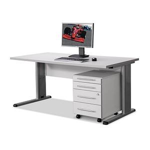 Wellemöbel Büromöbel Set Inada Grau Rechteckig Günstig Online Kaufen