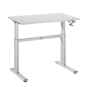 Hammerbacher Höhenverstellbarer Schreibtisch Grau Rechteckig Günstig