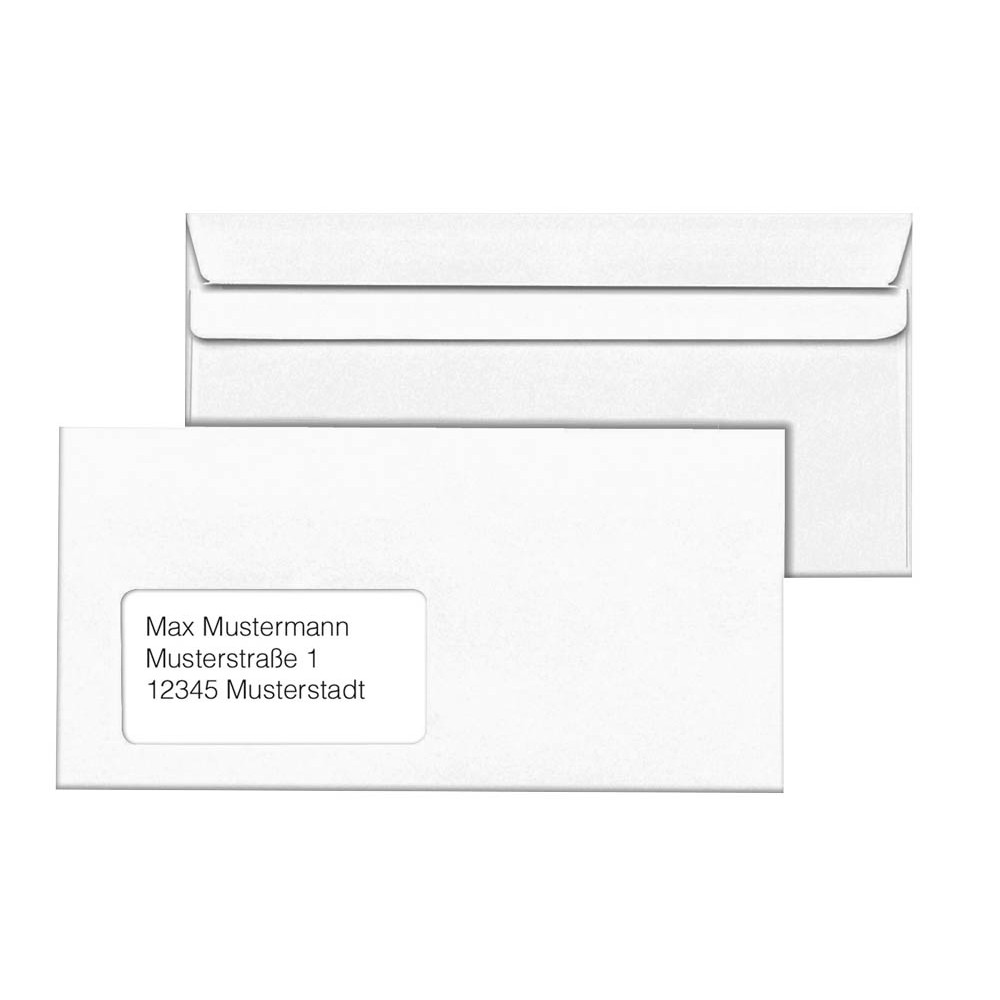 1000 Mailmedia Briefumschläge Din Lang Mit Fenster Günstig Online