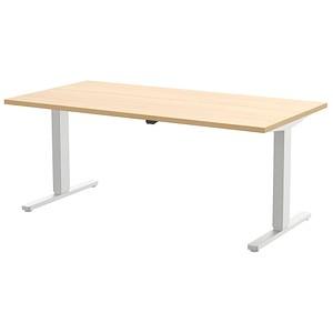 Wellemöbel Höhenverstellbarer Schreibtisch Ahorn Rechteckig Günstig