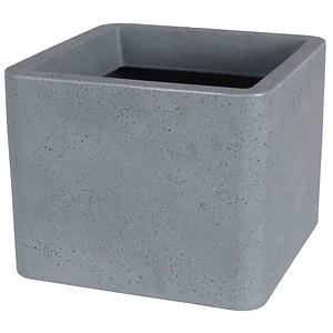 Lea Pflanzkübel Kunststoff 39,0 x 39,0 x 31,0 cm grau günstig online ...