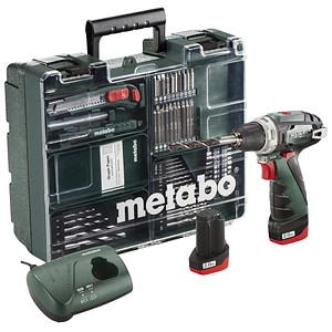 metabo powermaxx bs basic set mobile werkstatt akku bohrschrauber set 10 8 v g nstig online. Black Bedroom Furniture Sets. Home Design Ideas