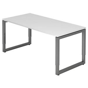 hammerbacher h henverstellbarer schreibtisch unni se1 wei rechteckig g nstig online kaufen. Black Bedroom Furniture Sets. Home Design Ideas
