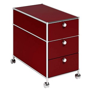 viasit rollcontainer system4 rot g nstig online kaufen. Black Bedroom Furniture Sets. Home Design Ideas