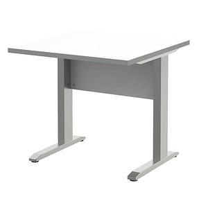 Wellemobel Schreibtisch Alto Weiss Quadratisch Gunstig Online Kaufen
