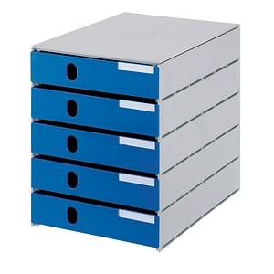 styro schubladenbox styroval blau mit 5 schubladen g nstig online kaufen office discount. Black Bedroom Furniture Sets. Home Design Ideas