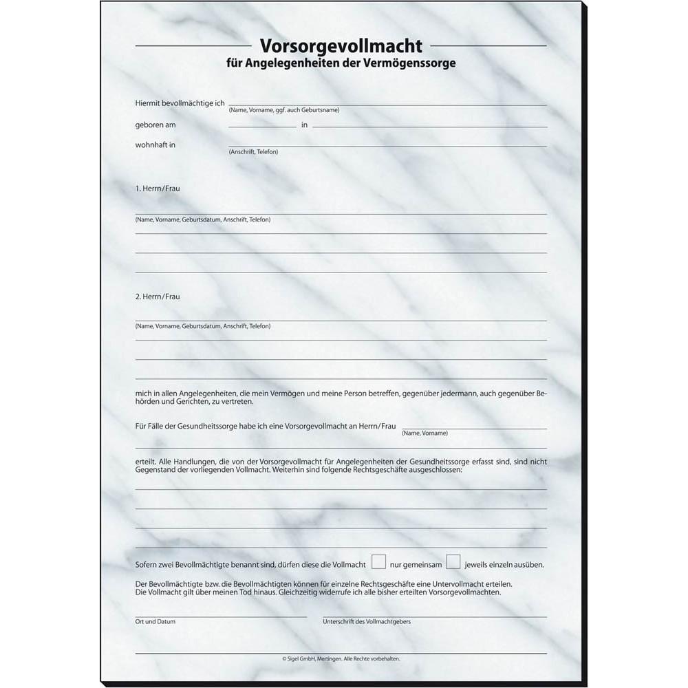 Sigel Formulare Pv450 Patientenverfügung Günstig Online Kaufen