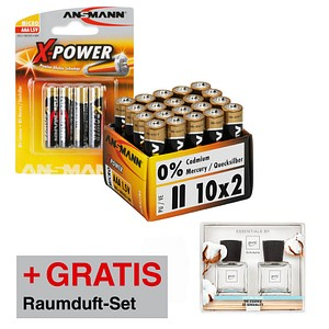Batterien X-POWER von ANSMANN