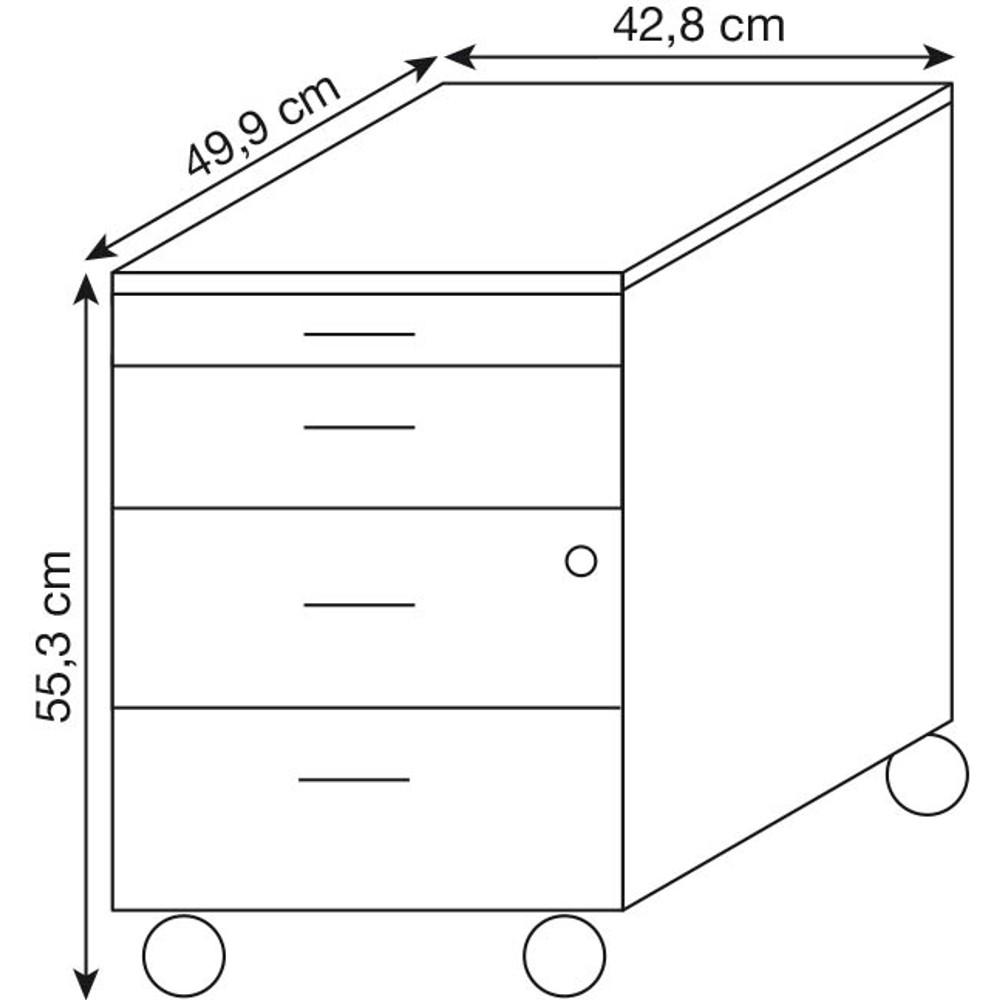 c7c846c0c32ae4 WELLEMÖBEL Büromöbel-Set Combi+ grau rechteckig günstig online ...