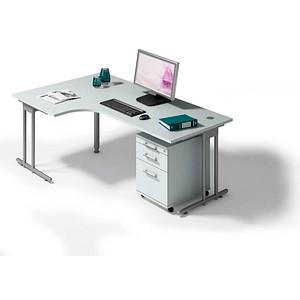 Büromöbel weiß grau  HAMMERBACHER Büromöbel-Set Prokura grau günstig online kaufen ...