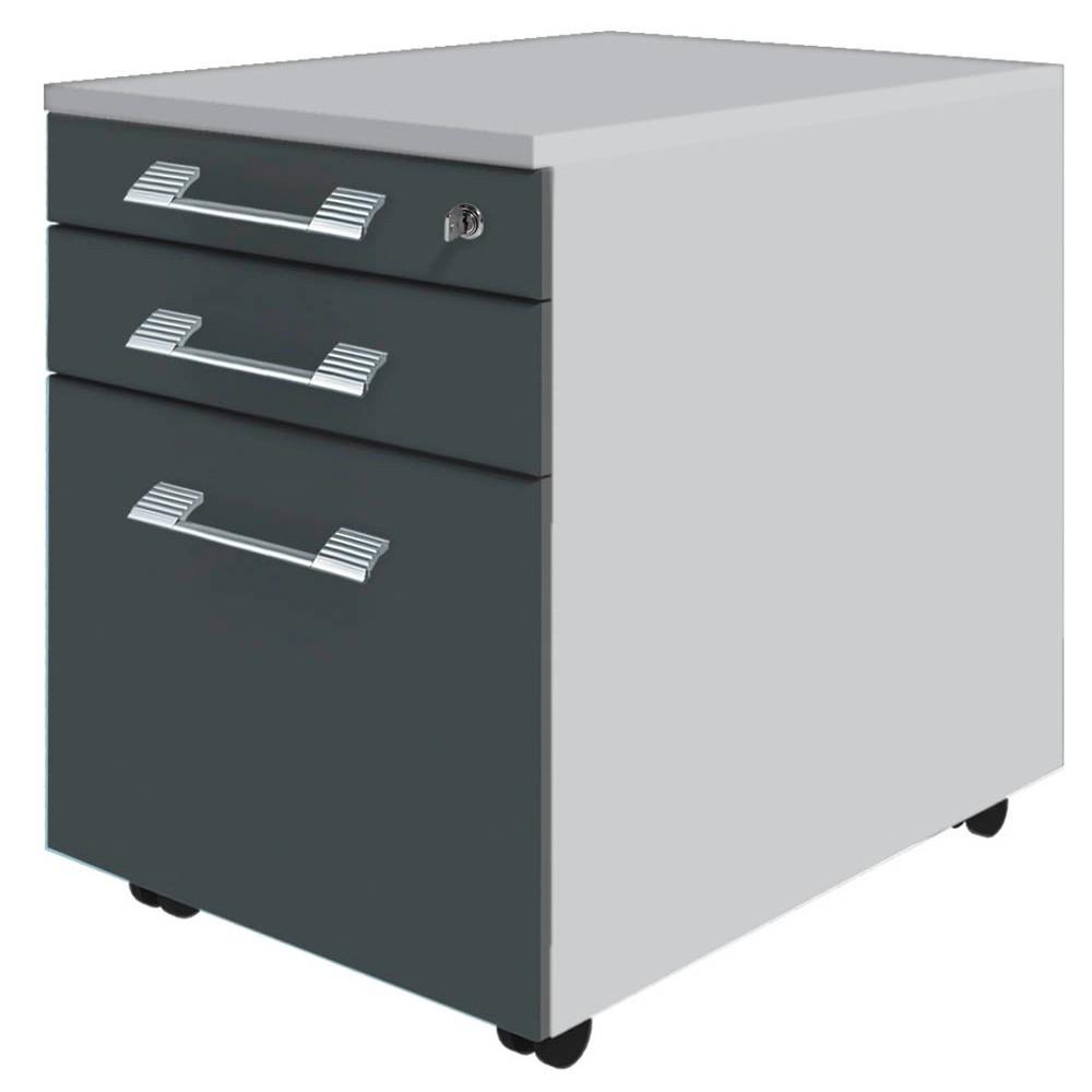 WELLEMÖBEL Rollcontainer Hyper grau/grau günstig online kaufen ...