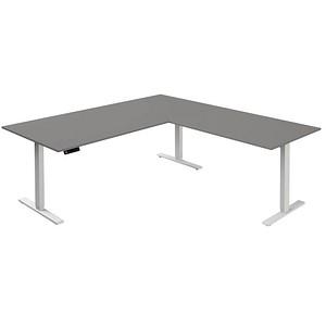 Kerkmann Höhenverstellbarer Schreibtisch Grau Rechteckig Günstig