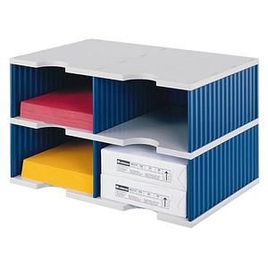 styro sortierstation styrodoc jumbo grau blau grundeinheit mit 2 etagen 2 f cher g nstig. Black Bedroom Furniture Sets. Home Design Ideas