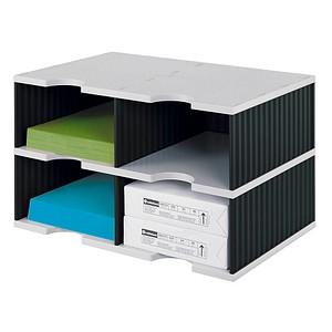 styro sortierstation styrodoc jumbo grundeinheit grau schwarz mit 4 f chern g nstig online. Black Bedroom Furniture Sets. Home Design Ideas