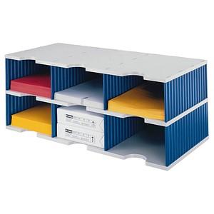 styro sortierstation styrodoc jumbo grundeinheit grau blau mit 6 f chern g nstig online kaufen. Black Bedroom Furniture Sets. Home Design Ideas