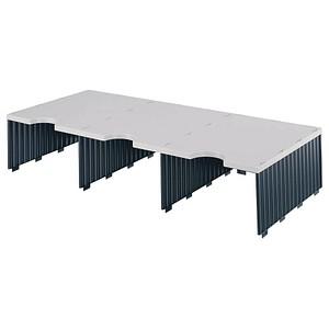 styro sortierstation styrodoc jumbo aufbaueinheit grau schwarz mit 3 f chern g nstig online. Black Bedroom Furniture Sets. Home Design Ideas
