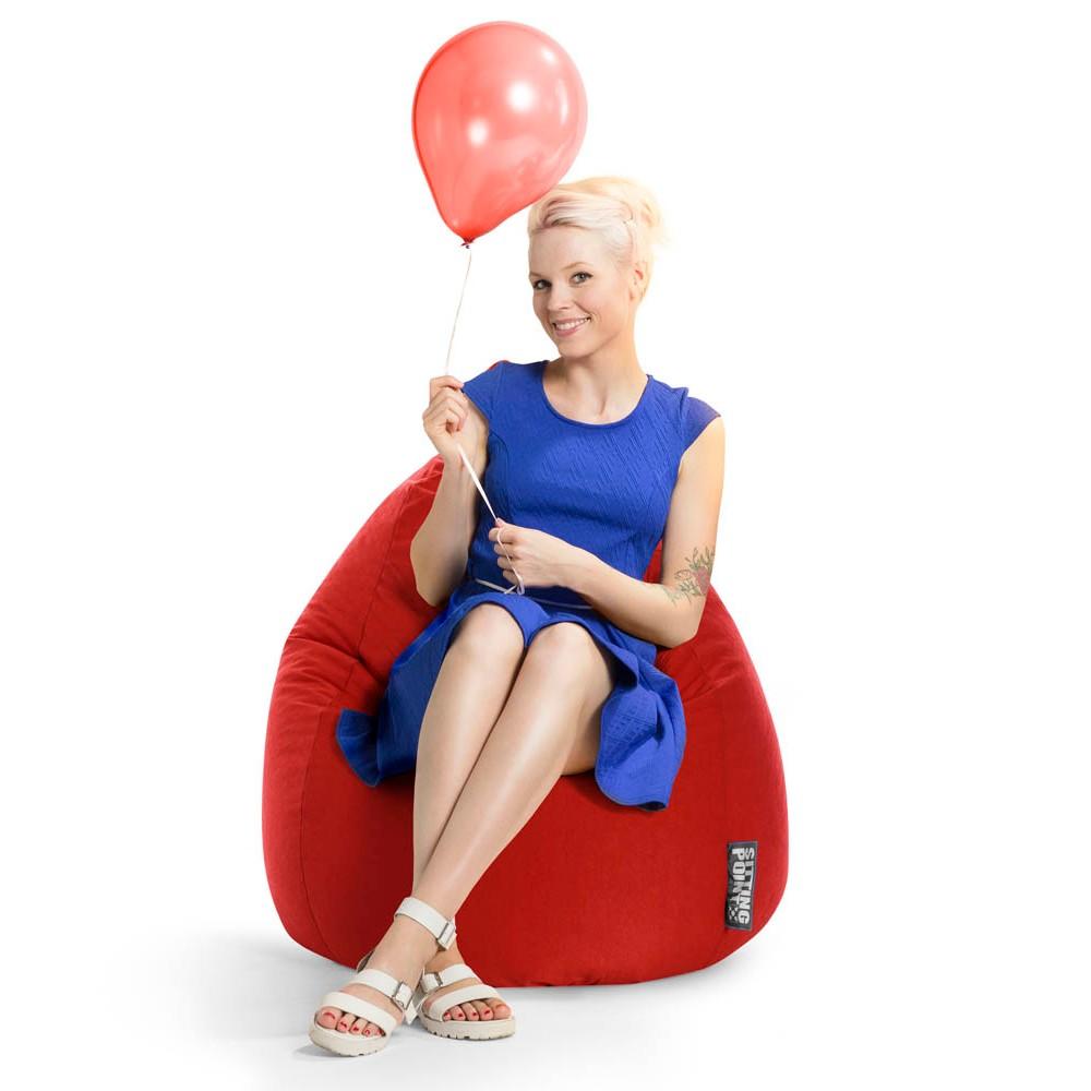 Sitting Point Beanbag Easy Xl Sitzsack Rot Günstig Online Kaufen
