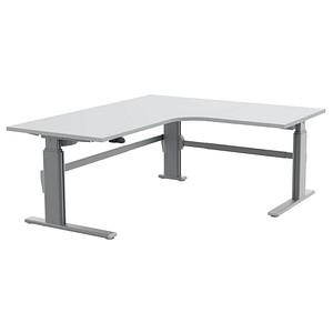 Wellemobel Hohenverstellbarer Schreibtisch Grau L Form Gunstig