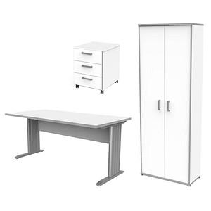 f48ab2ef8dd4c6 WELLEMÖBEL Büromöbel-Set Fuori weiß rechteckig günstig online kaufen ...
