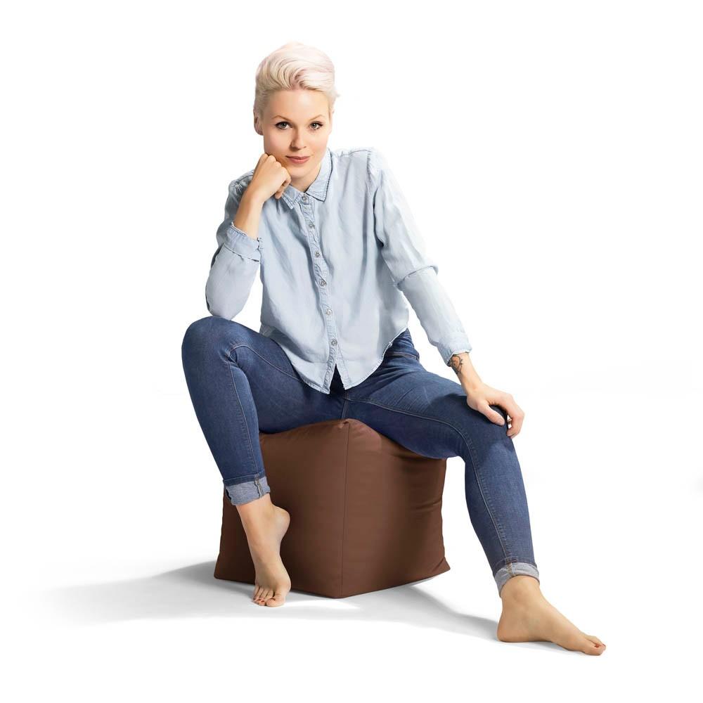 Sitting Point Cube Scuba Sitzsack Braun