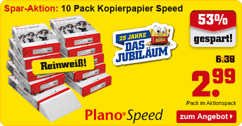 AKTION: 10x 500 Blatt Plano Kopierpapier Speed